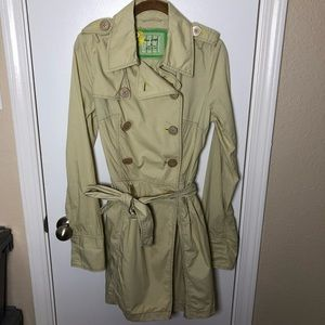 Free People Cotton Belted Spring Trench Coat